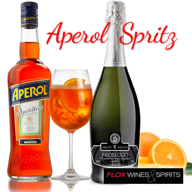 Aperol spritz we make this refreshing cocktail with for Drinks made with prosecco