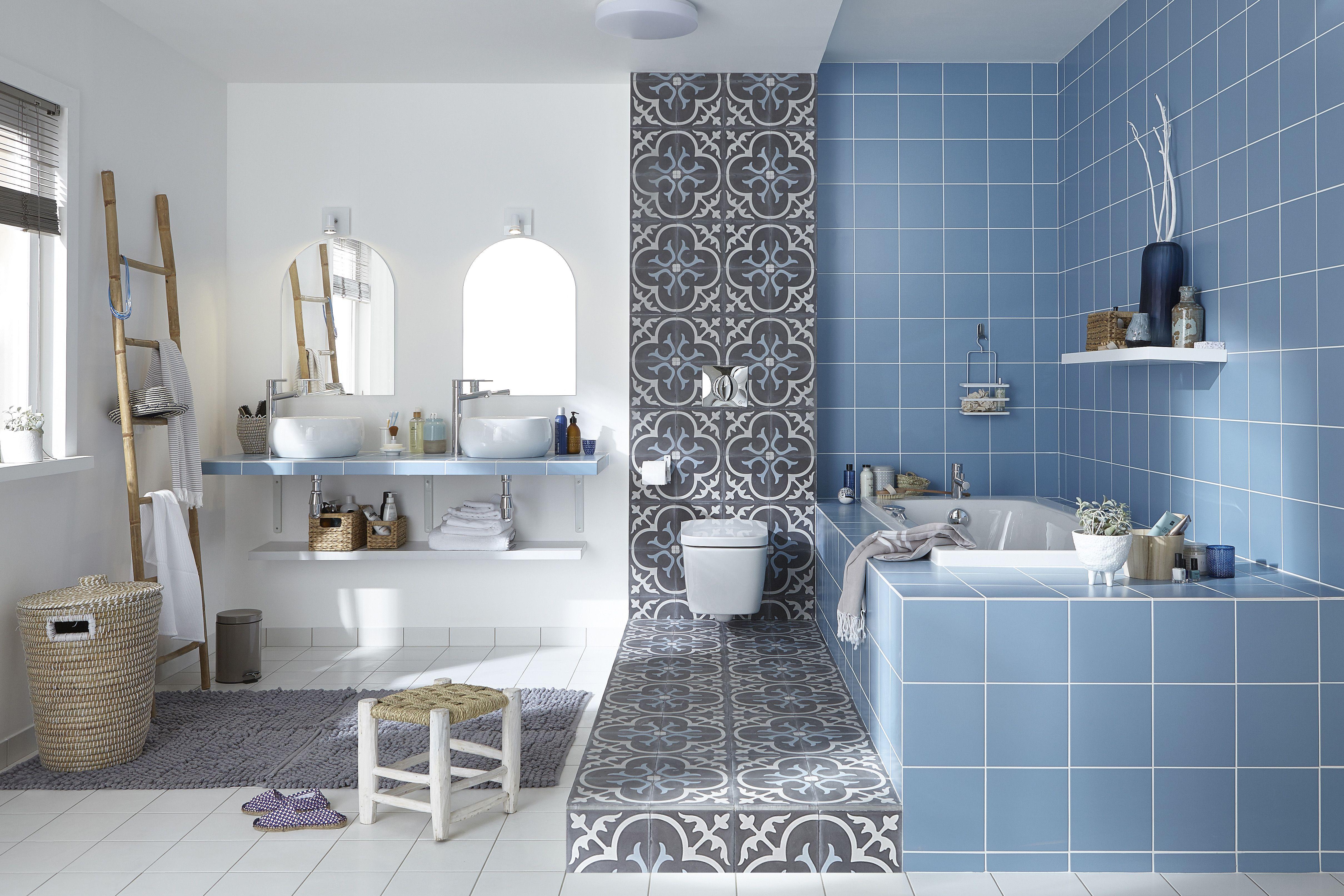 Tips to Create Salle De Bain Carrelage Sol Bleu