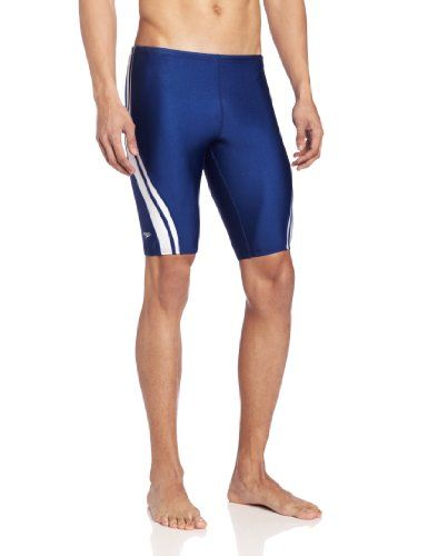 8b99310176 Speedo Mens Quantum Splice Jammer Swimsuit NavyWhite 38 ** Click the image  to visit the Amazon website