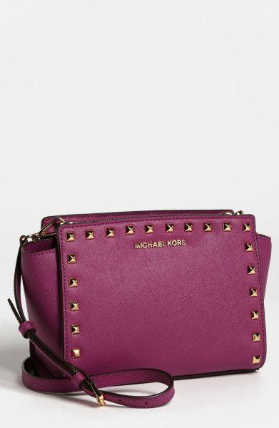 07695d7818e5 Selma Stud Saffiano Leather Crossbody Bag - Lyst | What I like ...