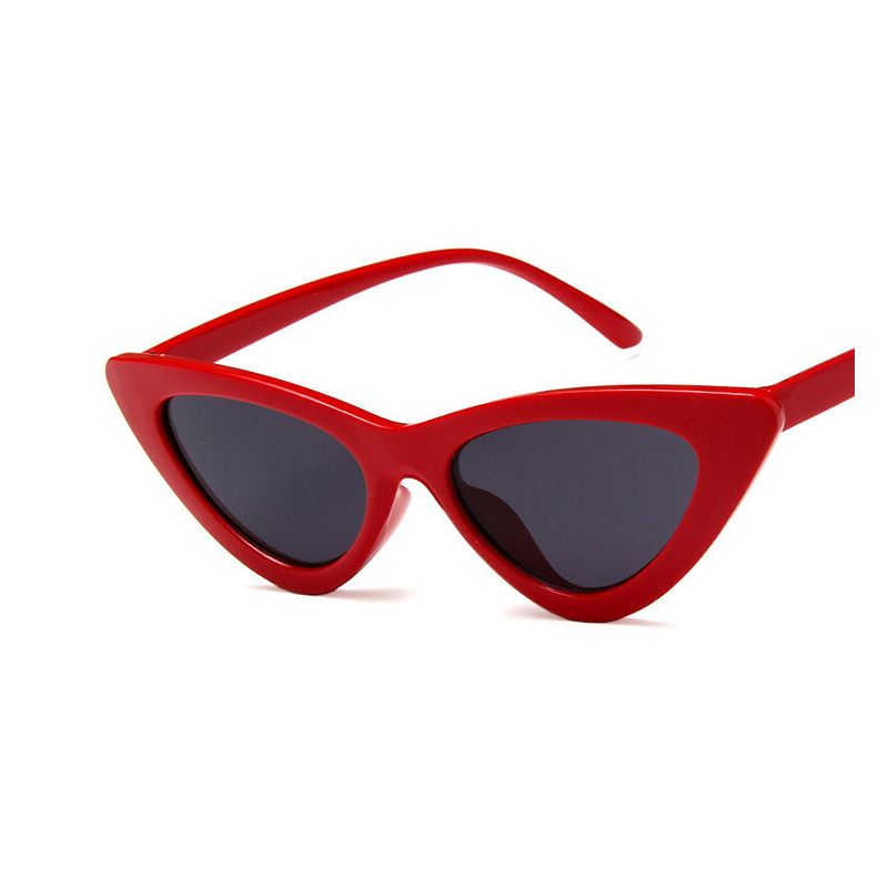 Cute Retro Cat Eye Sunglasses Women Small Black Triangle Vintage Sun Glasses Female Uv400 g4xJmIVW
