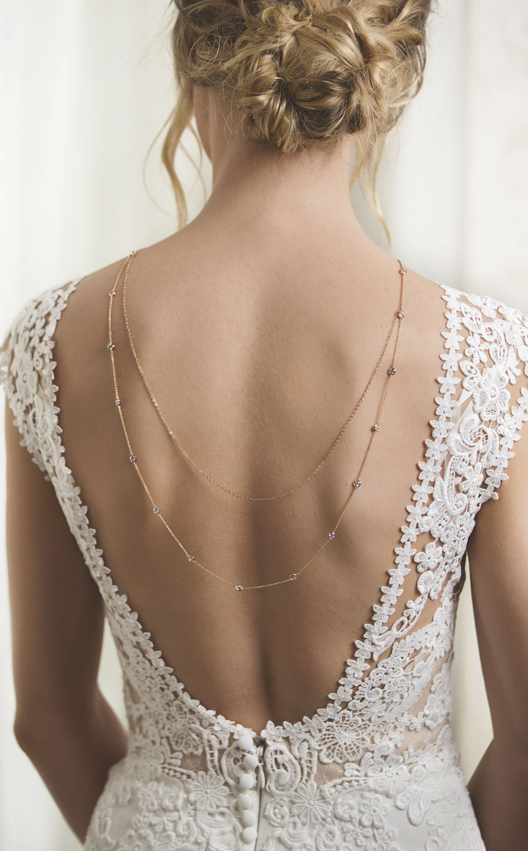 Dakota u crystal back necklace in weddings pinterest