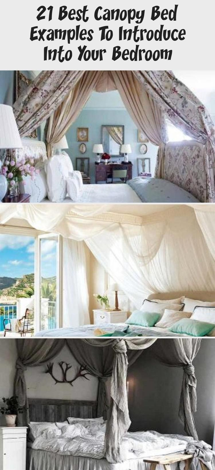 Boho Bedroom Design With Rustic Bed #plants Best canopy ... on Modern Boho Bed Frame  id=57073