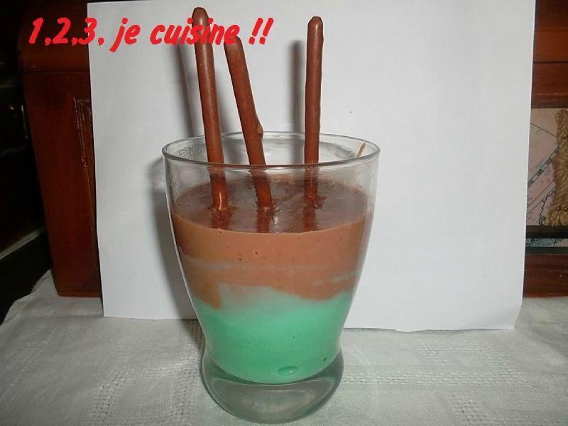 verrine menthe chocolat