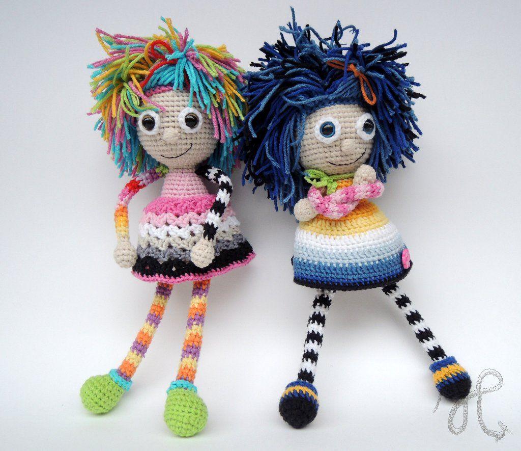 Amusing crochet dolls. So cute! (Inspiration).♡