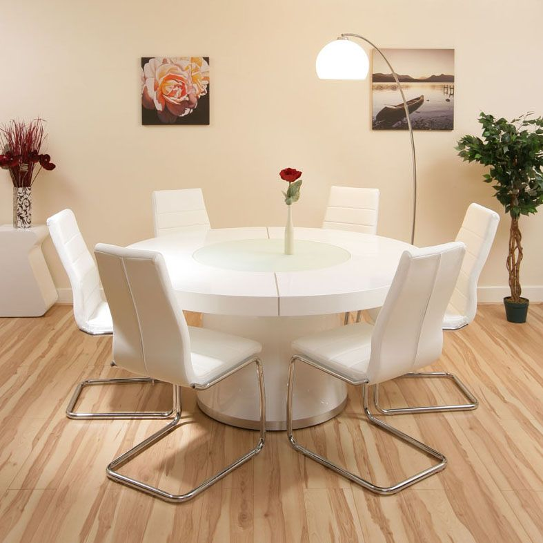 10 Awesome Cream Dining Table Chairs Pictures Round Dining Room