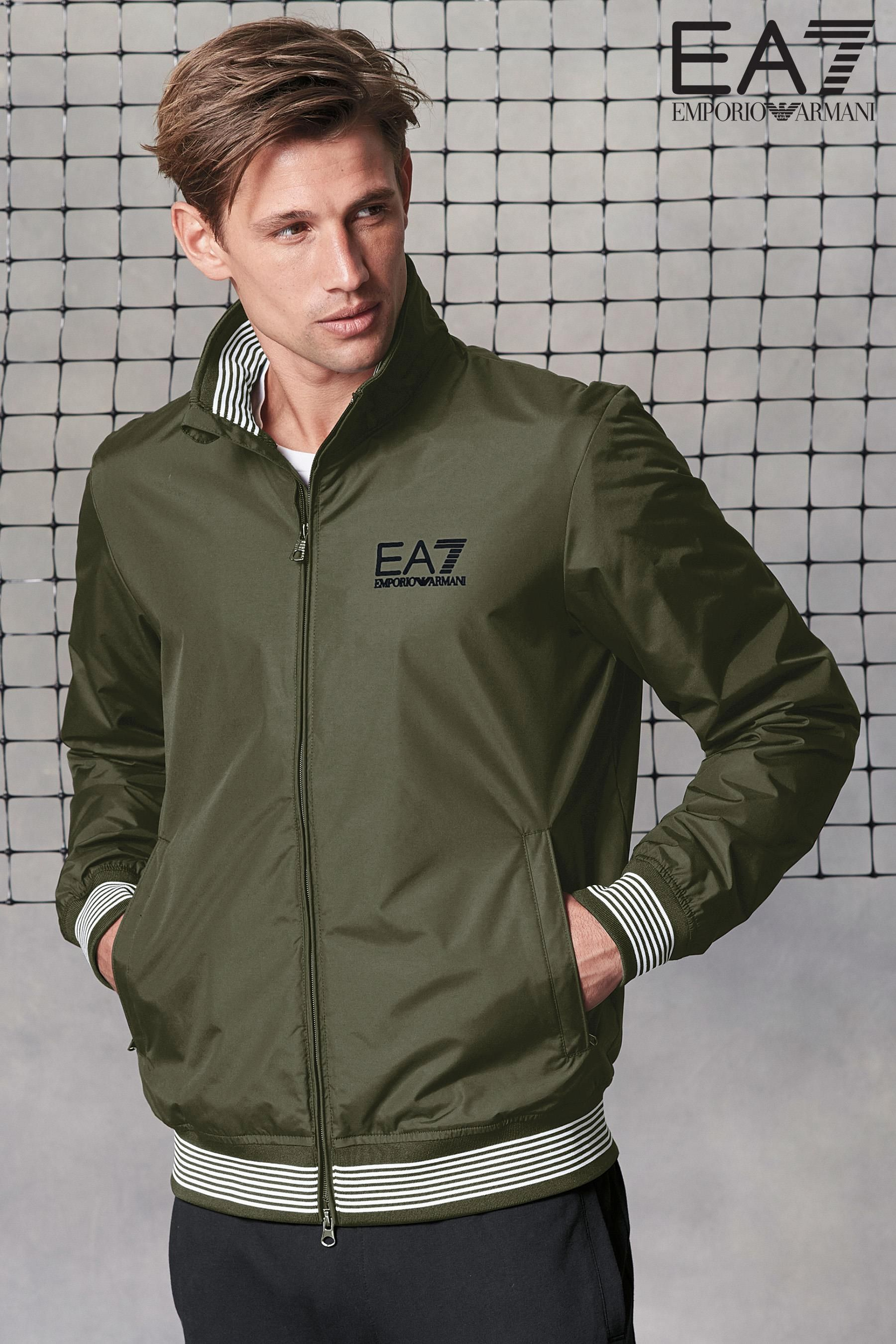 a9e7bb0fb Buy Emporio Armani EA7 Forest Green Track Jacket from the Next UK ...