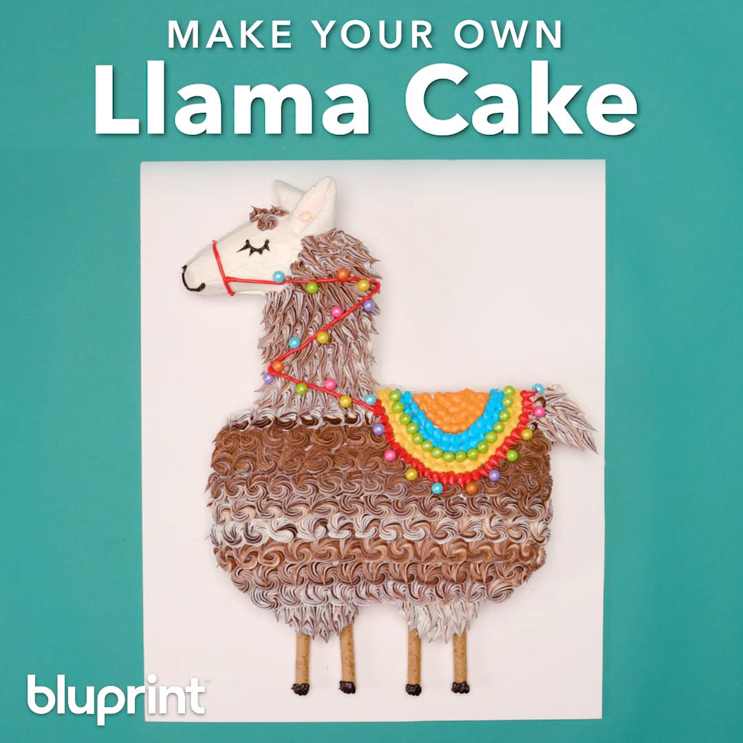 DIY Llama Cake  #cakedecoratingvideos