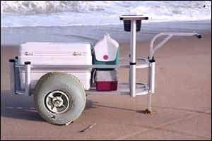 Fishing cart kits from wheeleez inc gone fishin for Pier fishing cart