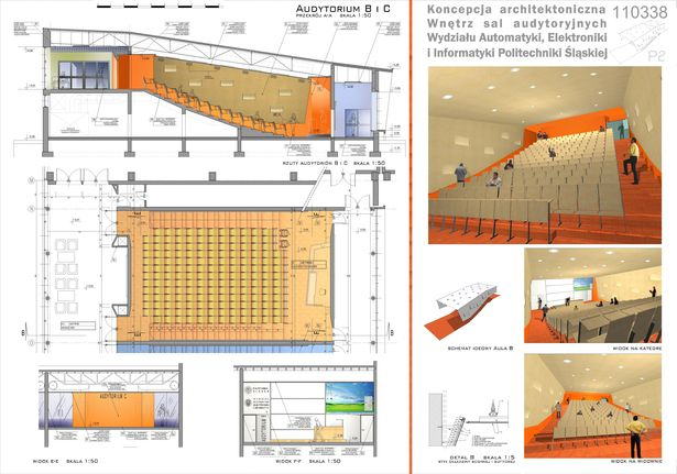 Auditoriums A B C At Silesian University Of Technology In Gliwice Zalewski Architecture Group Archinect Auditorium Design Lecture Hall Design Auditorium Architecture