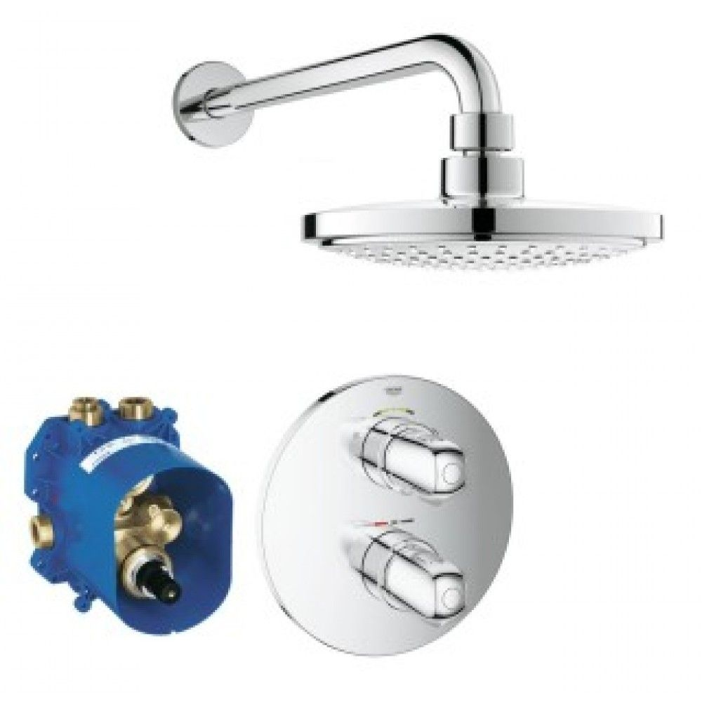 Image For Grohe Grohtherm 1000 New Thermostatic Shower Set Shower