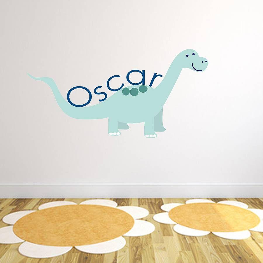 Custom Dinosaur Fabric Name Sticker. Dinosaur Wall StickersName ...