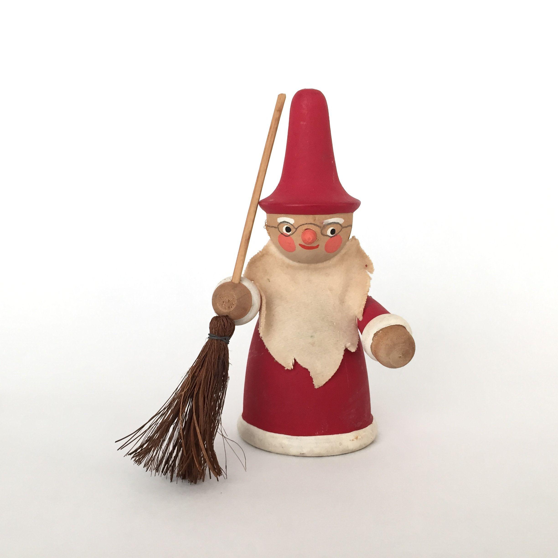 wooden Swedish Santa chimney sweep Christmas decor vintage ...