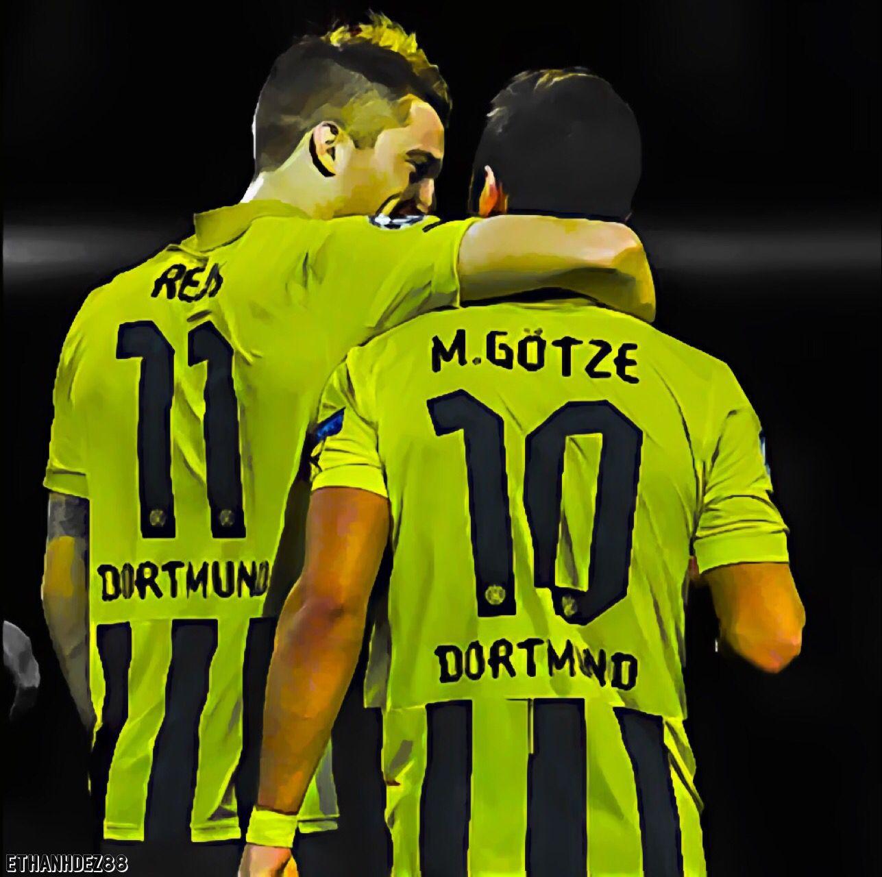 Marco Reus & Mario Gotze Borussia Dortmund Friendship