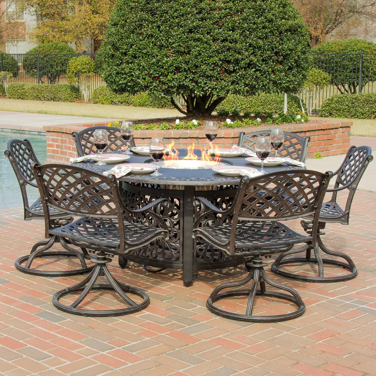 Lakeview Outdoor Designs Heritage 6Person Cast Aluminum