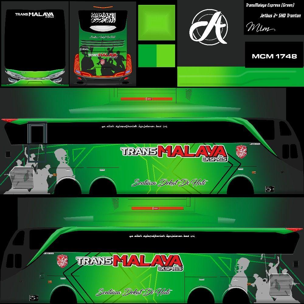 Skin Bus Trans Malaya Ekspres Theme In 2021 New Bus Star Bus Bus Games