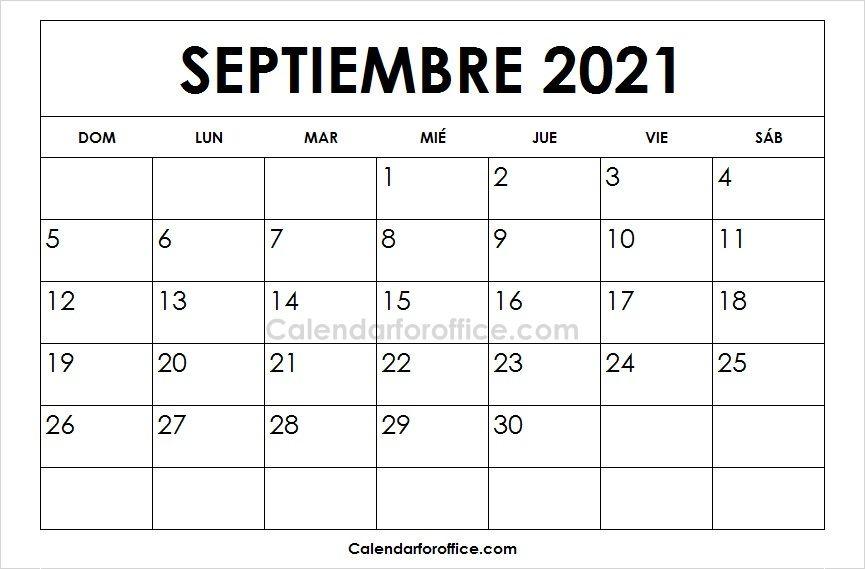 Imprimir Calendario 2021 Septiembre Calendar Template Printable Calendar Unique Calendar