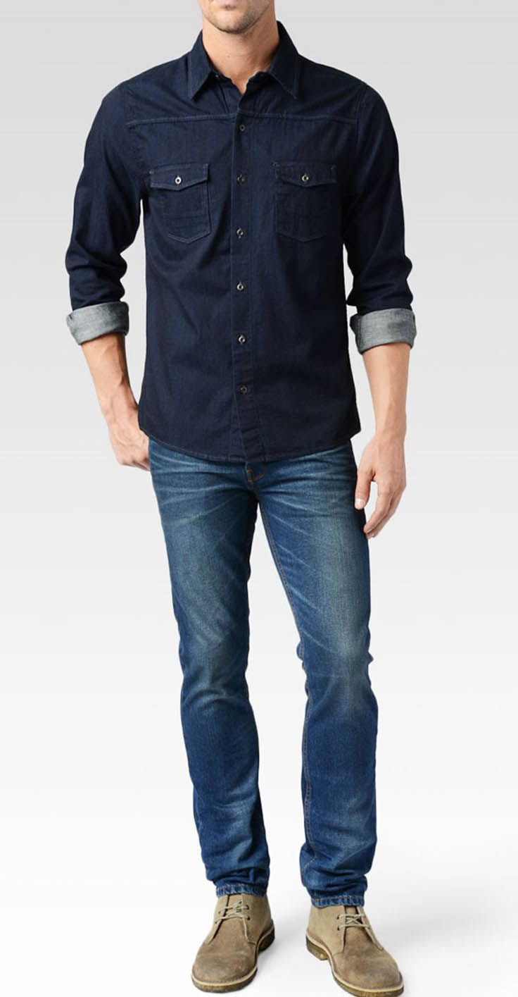 5 Must have Denim Shirt For Men | Denim shirt men, Luxury ...