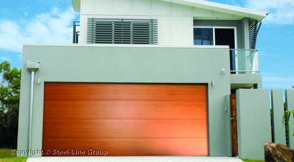 Steel Line Decowood Garage Door Architecture Garage Doors