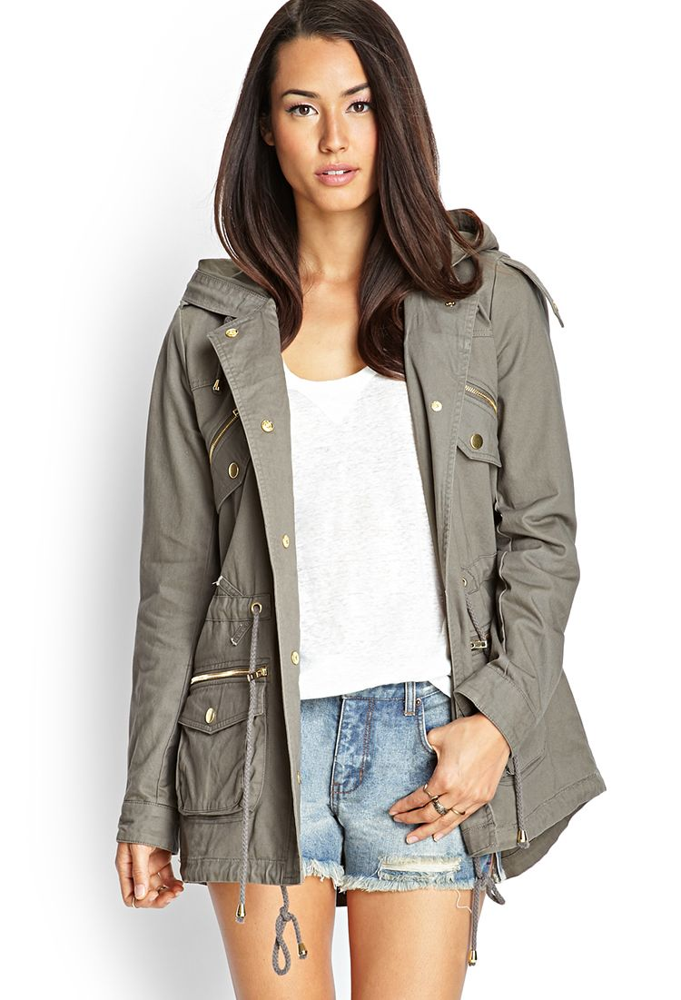 you.u Holiday Deals Army Style Women Puffer Parka Coat