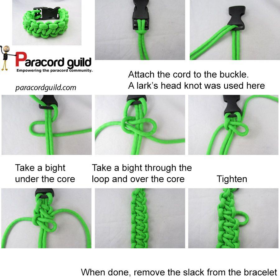 A Tutorial On The Chain Sinnet Paracord Bracelet Ideas