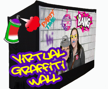 Our Photo Graffiti Wall and Touch Screen take the photo booth concept to a new, more interactive level.