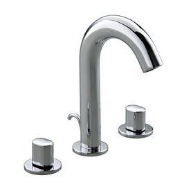 KOHLER Oblo Polished Chrome 2 Handle Widespread Bathroom Sink Faucet (Drain  Included)