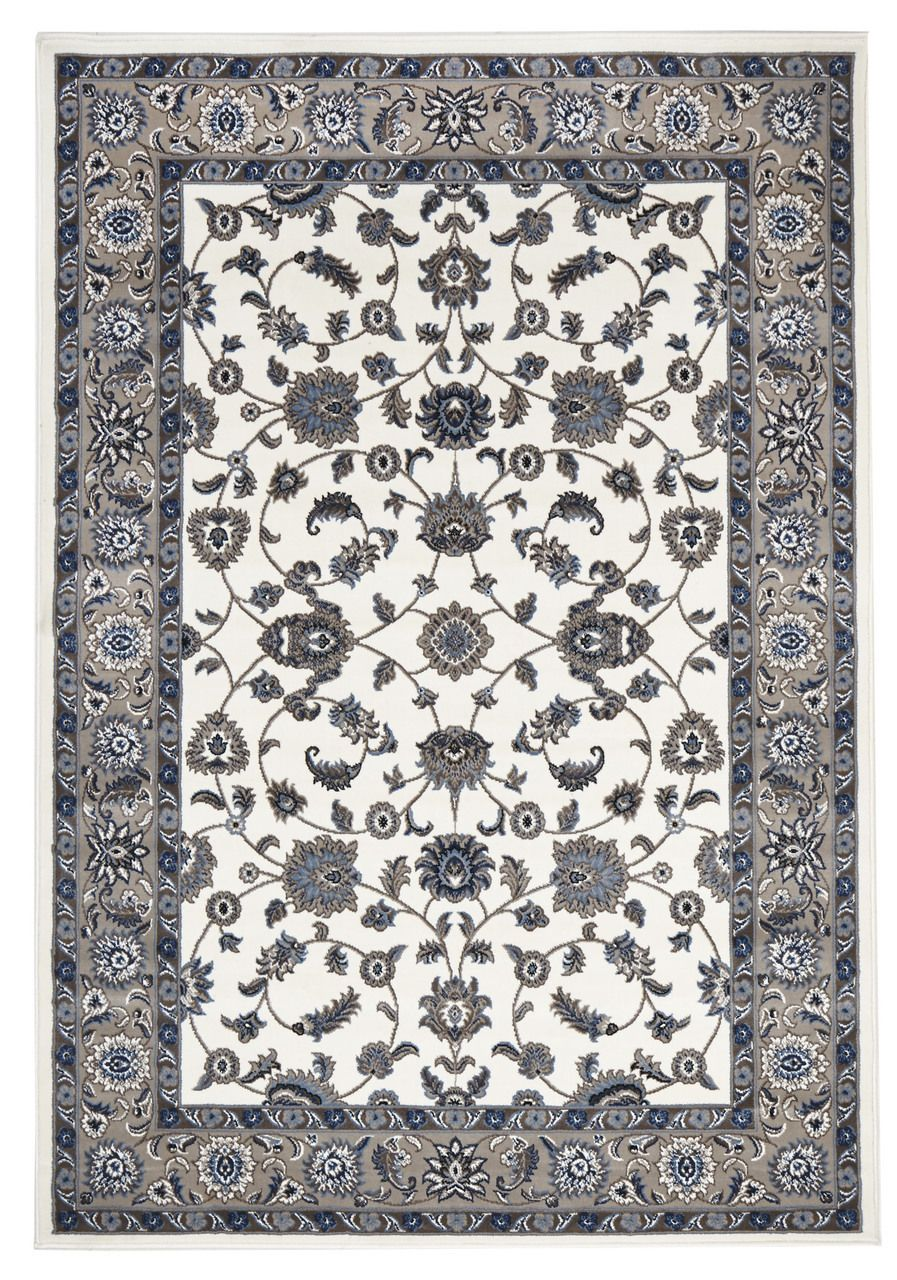 Noble White Beige Traditional Rug Rugs Affordable