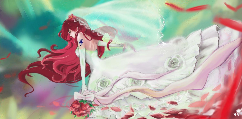 /Erza Scarlet/#1531296 - Zerochan--she's marrying Jellal ...