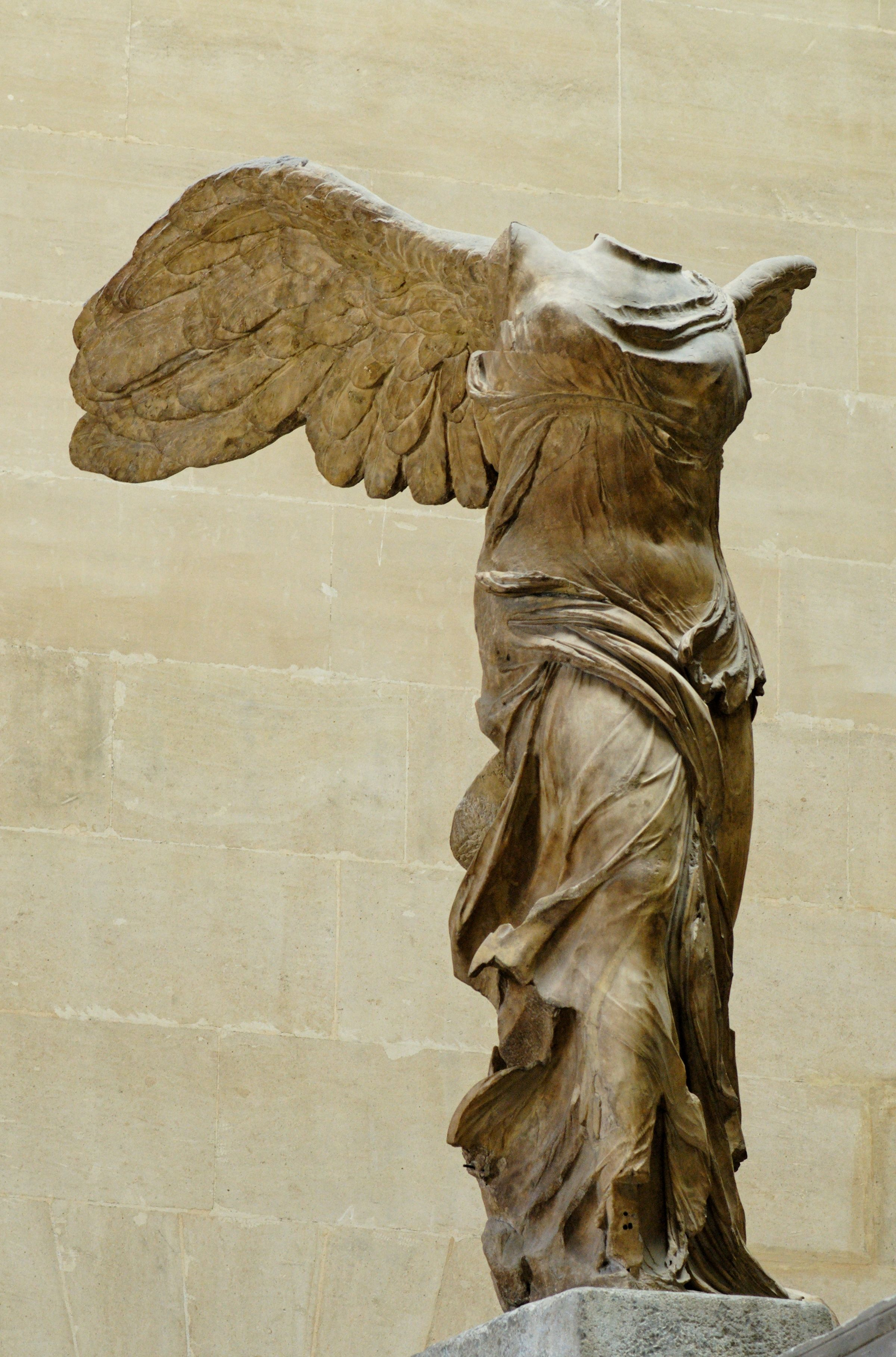 Nike of Samothrace - Winged Victory - circa 190 B.C. On display at the  Louvre.