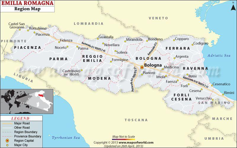 Emilia Romagna Cartina Province.Romagna Map Map Of Emilia Romagna In Italy Emilia Romagna Trip Planning Map