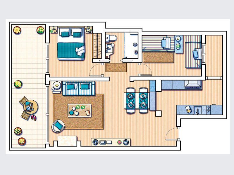 Cómo distribuir el espacio en casa. Ejemplos de planos | Planos ...