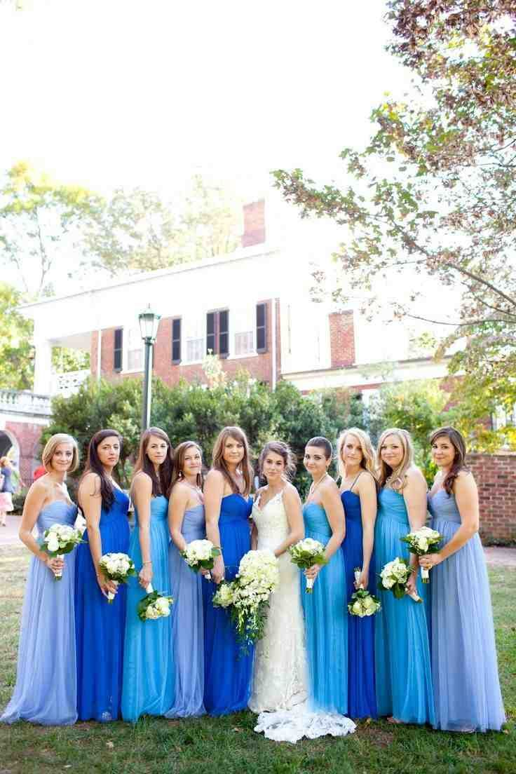 Shades Of Blue Bridesmaid Dresses | Tiffany blue | Pinterest ...