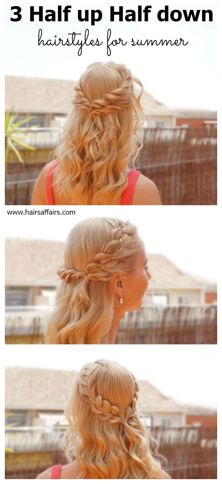 half up half down hairstyles for summer video tutorial included