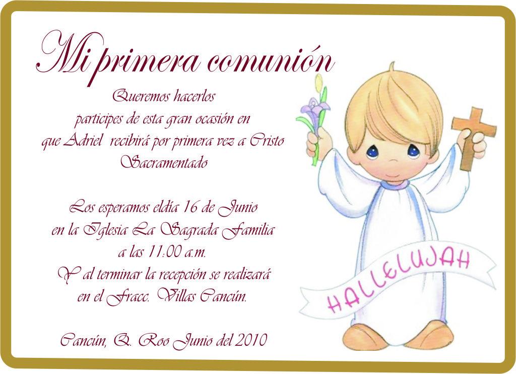 Invitaciones de comuni n modernas para ver desde el - Como hacer tarjetas para comunion ...
