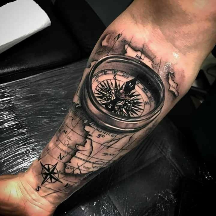 Follow Majoryyz Tattoos For Guys Tattoos Compass Tattoo