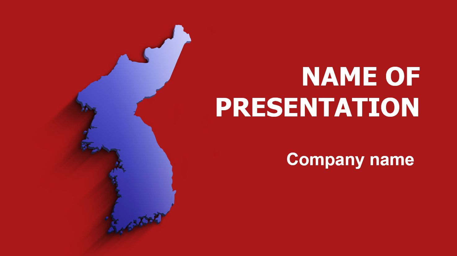 korea map powerpoint template and theme. this beautiful and, Powerpoint templates