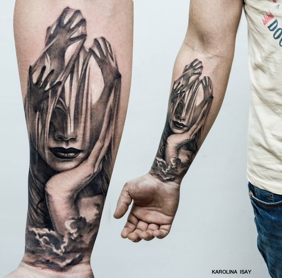 Pin By Mytorius On Believe Tattoo Men: Magnificent Double Exposure Tattoos