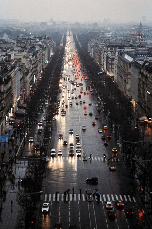 Rainy Paris.