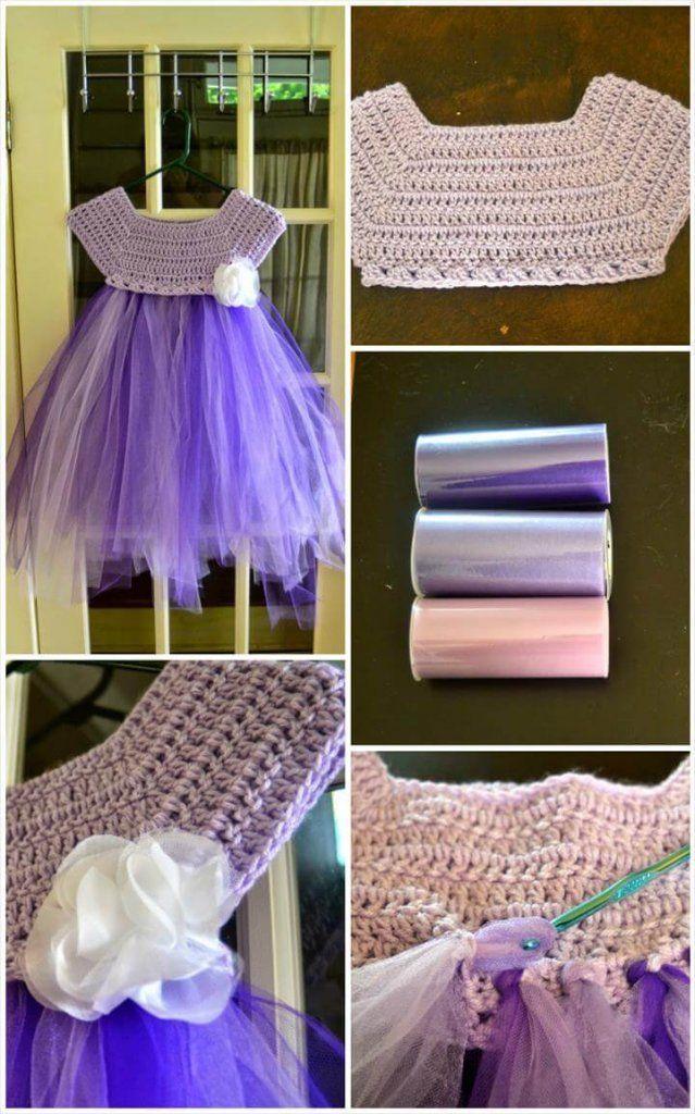10 Free Crochet Patterns for Girl Tutu Dress Top