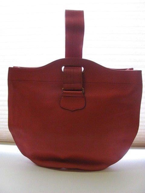 Vintage Bonnie Cashin Design Carry Coach Leather Tote Purse Orange Red Bonniecashincashincarry Totespers