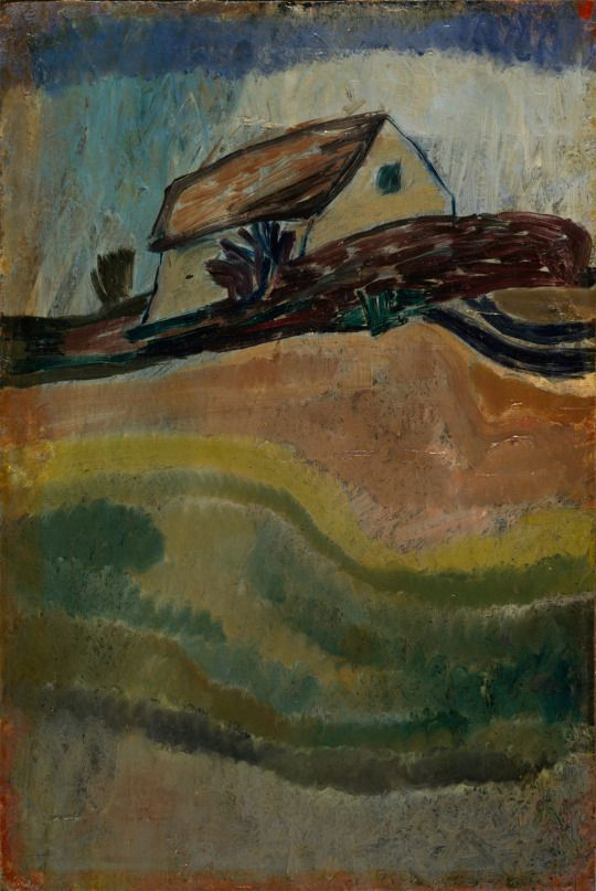 Paul Klee (1879-1940) Untitled (Landschaft mit Bäumen, Weg und Wiese, Burghausen - Landscape with Trees, Road and Meadow, Burghausen) c. 1899