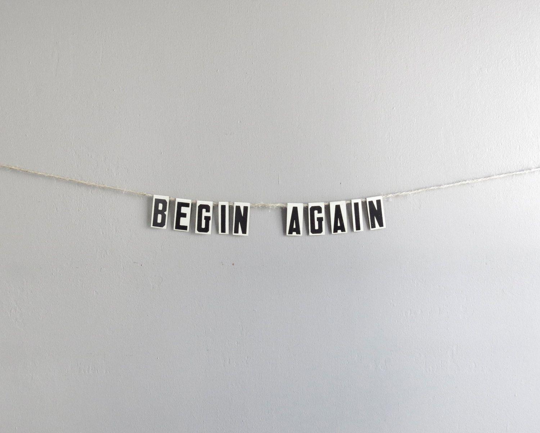 begin again / vintage modern bunting by ohalbatross on Etsy
