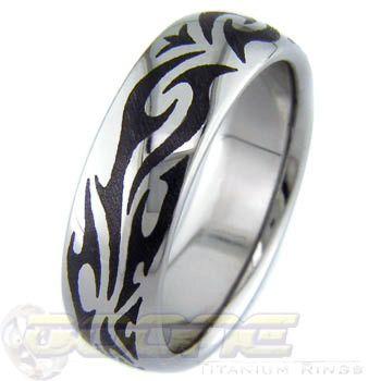 Tribal Tribal Wedding Titanium Rings Rings