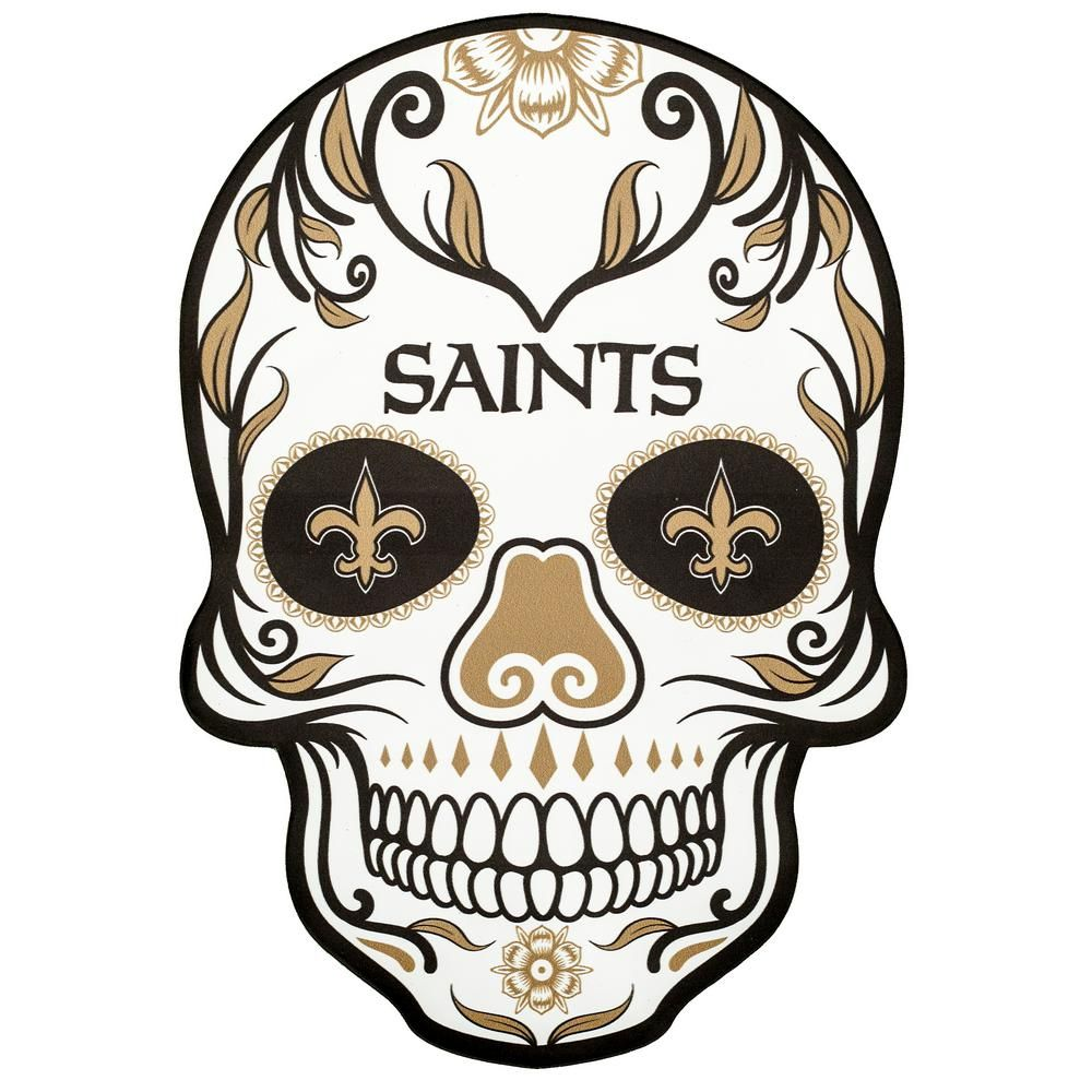 Applied Icon Nfl New Orleans Saints Outdoor Skull Graphic Small Nfos2101 The Home Depot Skull Decal Jacksonville Jaguars Skull
