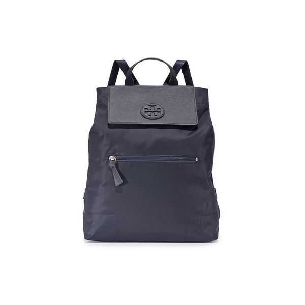 6e46882d6c61 Tory Burch Ella Packable Backpack (£185) ❤ liked on Polyvore featuring  bags