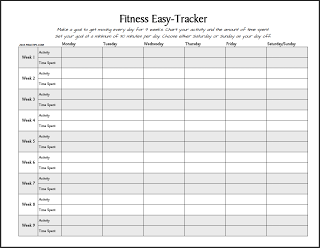 free printable fitness easy tracker track your activity and the