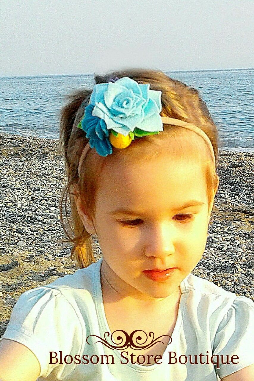 This 100 % handmade felt flower crown headband is perfect hair accessory for baby girl and toddler for different hair styles little girls.  It will be great idea for first 1st birthday girl party floral and boho themes, newborn photo shoot, gift for baby girl and for different styles of kids fashion wear. #feltflowerheadbands