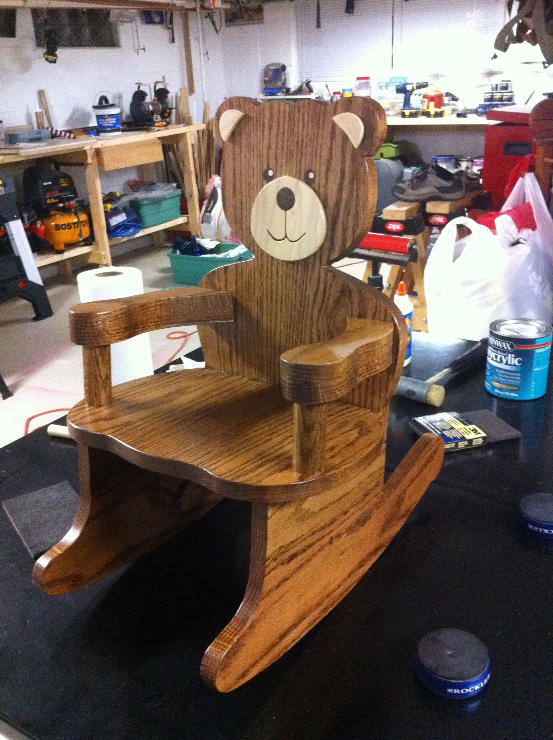 i made this teddy bear rocking chair for my first nephew