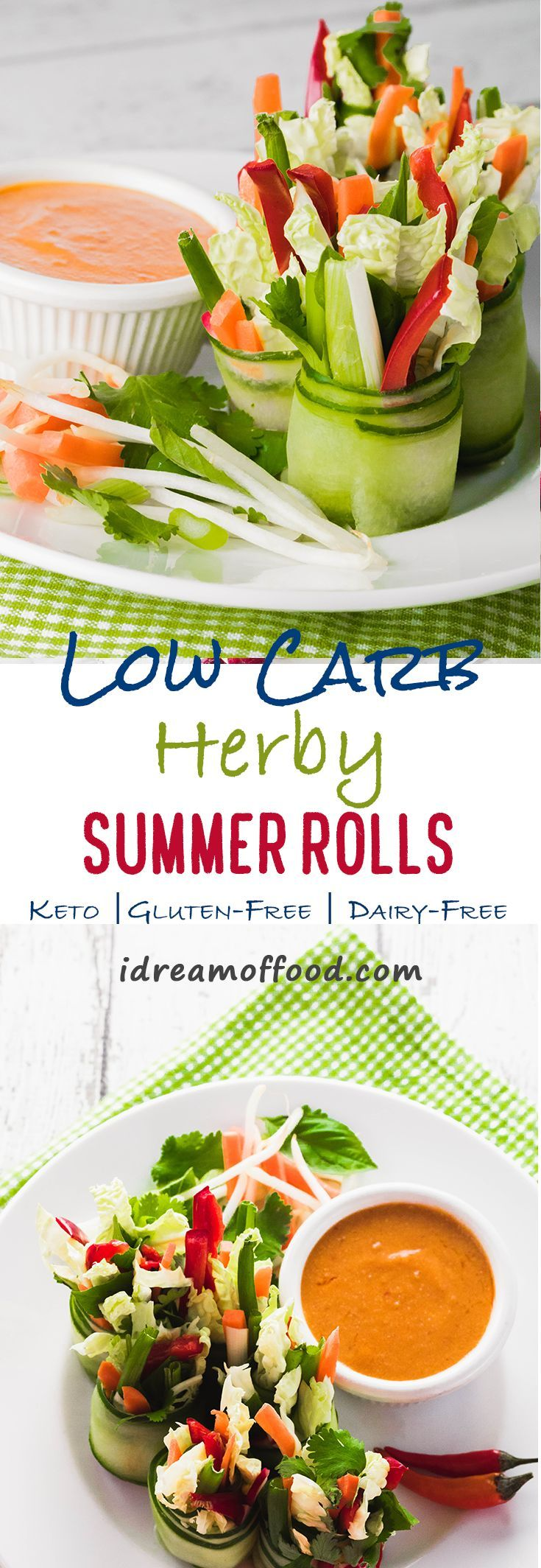 Low-Carb Herby Summer Rolls (low-carb, gluten-free, nut ...